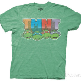 All Posters - Teenage Mutant Ninja Turtles - Colored Faces Tシャツ