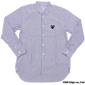 PLAY COMME des GARÇONS - STRIPED BUTTON DOWN SHIRT