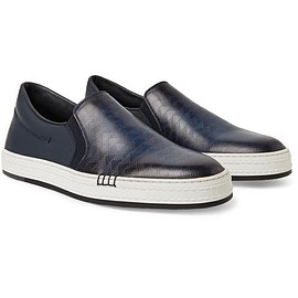 Berluti - Vitello Pythagora Patterned and Rubberised Leather Sneakers