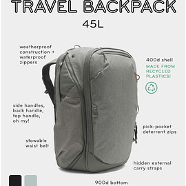 Peak Design - Travel Backpack 45L + Camera Cubes