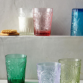 Anthropologie - Fleur-De-Lys Juice Glass