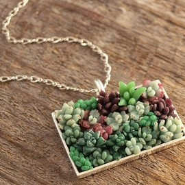 WoodlandBelle - succulent-necklace
