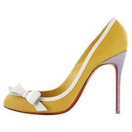 Christian Louboutin - Christian Louboutin, yellow with white triming