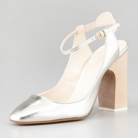 Chloé - Metallic Leather Anklestrap Pump