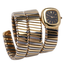 BVLGARI - Gold and Steel Watch with Movement by Gerald Genta