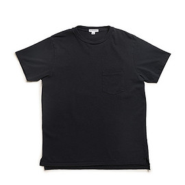 WORKADAY - Crossover Neck Pocket Tee-Navy