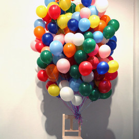 Myeongbeom Kim - Untitled Wood, Balloon, Mixed media