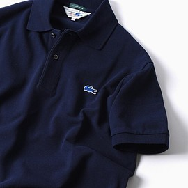 LACOSTE × SHIPS - LACOSTE × SHIPS  70's ドロップテイル ポロシャツ (navy)