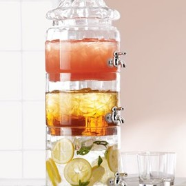 HORCHOW - Stacked Optic-Glass Beverage Server