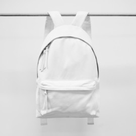 STAMPD LA - White Leather Backpack