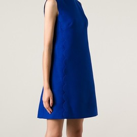 VALENTINO - Scalloped-seam A-line dress