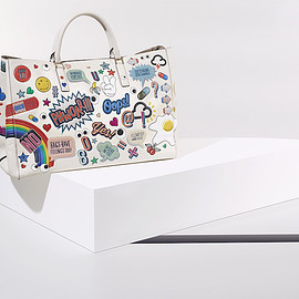 Anya Hindmarch - Anya Hindmarch Maxi Stickered-Up Featherweight Ebury Tote