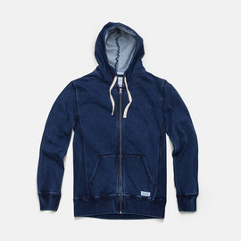 Saturdays Surf NYC - Indigo JP ZIP Hoodie