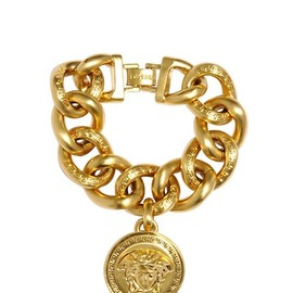 VERSACE - Medusa Gold Plated Metal Chain Bracelet