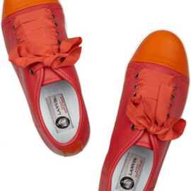 Lanvin  - Color-block leather sneakers