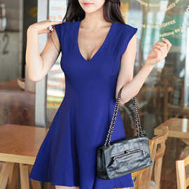 LUXE ASIAN - Purple Line Dress