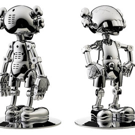 KAWS × HAJIME SORAYAMA - No Future Companion Chrome Version