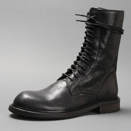 ANN DEMEULEMEESTER - Leather lace-up boots
