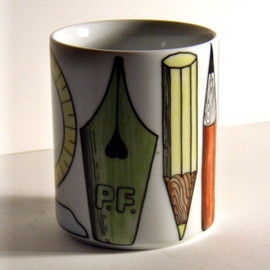 Fornasetti - writing instruments pencil holder