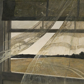 Andrew Wyeth - Wind from the Sea, 1947. Tempera on hardboard,