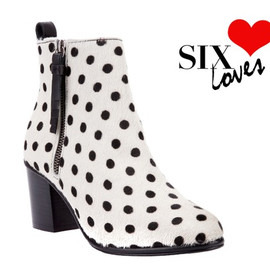 OPENING CEREMONY - -SIX LOVES- The new Opening Ceremony pre collection Shirley boot in polka dot pony out now. Shop here: http://shop.sixlondon.com/shopping/women/opening-ceremony-shirley-ankle-boot-item-10229918.aspx