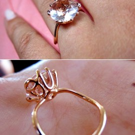 "Christian Dior - ""oui"" pink diamond ring."