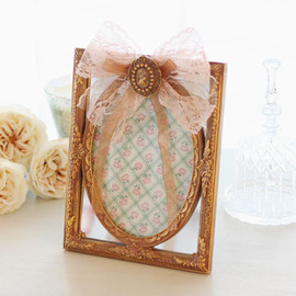 kino - Lace Ribbon Photo Frame (ゴールド)