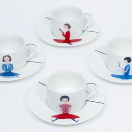 "D-BROS - ""Dear Bear"" cup and saucer"