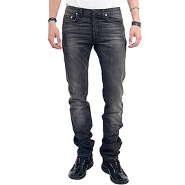 "DIOR HOMME - 10A/W ""Fuzzy Dreams"" Stretch Black Denim"