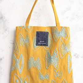 mina perhonen - sky flower mini bag ミニバッグ yellow/mint