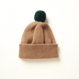 YMC - Two Tone Bobble Hat (green)