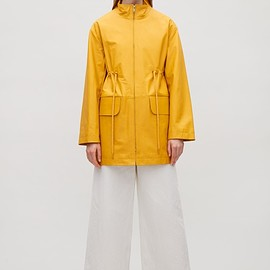 COS - Rubberised leather coat in Yellow