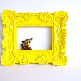 Yellow Bliss Baroque Frame ~ Brightly Colored Kids Room Decor