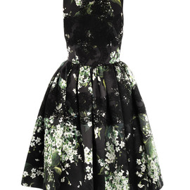 Printed silk-organza dress