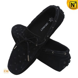CWMALLS - Men Gommino Leather Moccasin Loafers in Nubuck CW740166