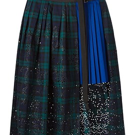 sacai - SS2015 Pleat underlay broderie wrap skirt