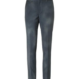 Lanvin - Grey Slim-Fit Puppytooth Brushed Wool-Gabardine Trousers