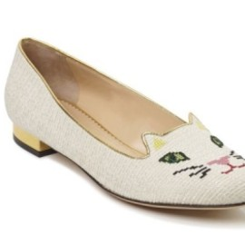 Charlotte Olympia - Off White Kitty Flat