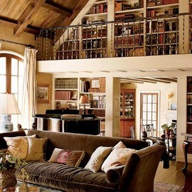 dream loft with upper library