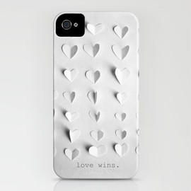 "Marianne LoMonaco - ""love wins."" iPhone case by"