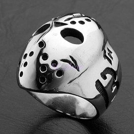 Friday the 13th Jason's Hockey Mask Ring