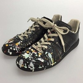 Maison Margiela - 2015SS Paint Drop Replica Leather Low-Top Sneakers