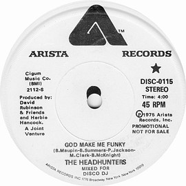 The Headhunters - God Make Me Funky (Mixed For Disco DJ) Promo 7inch