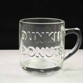 ANCHOR HOCKING - DUNKIN' DONUTS  Glass Mug Cup