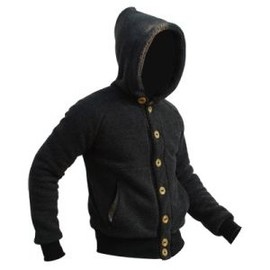 GRIFFIN - Hooded Button Fleece