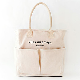 Vegie bag × KURASHI&Trips PUBLISHING - Vegie bag × KURASHI&Trips PUBLISHING/コラボトートバッグ (生成り)