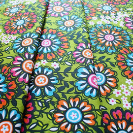 blend fabrics - Global Bazaar Swinging Blossoms Green
