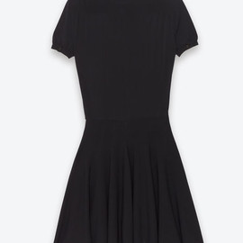 Saint Laurent Paris - Classic Skating Little Dress in Black Jersey