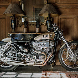 Harley-Davidson - Sportster custom 1994  by Lucky Cat Garage