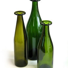 cappellini - Three Green Glass Bottles